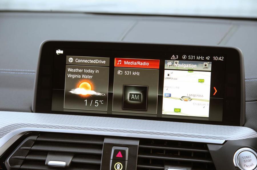 BMW X3 iDrive infotainment system