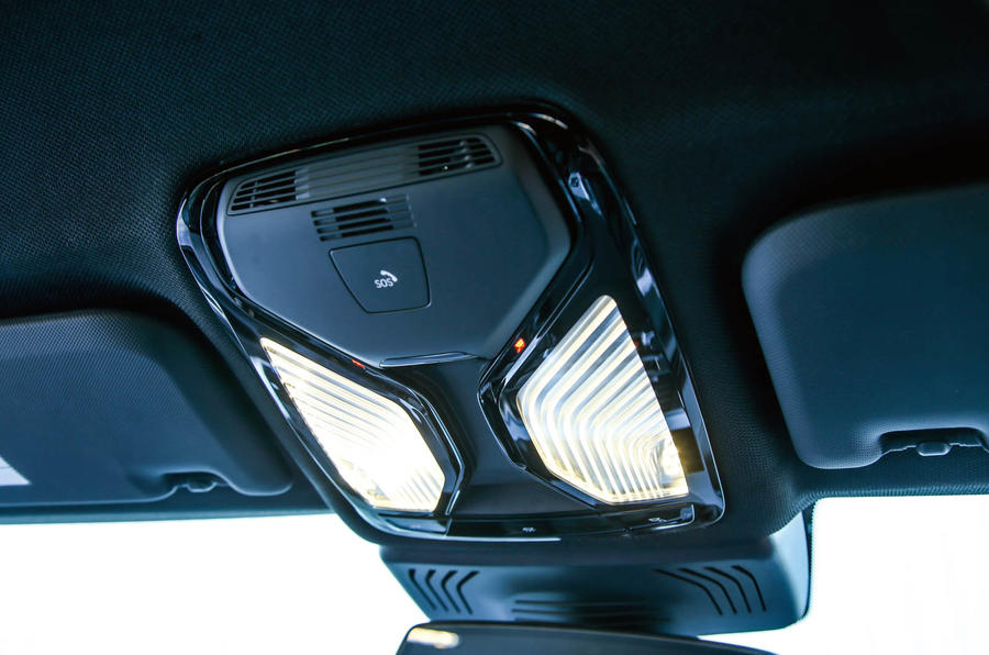 BMW X3 reading lights
