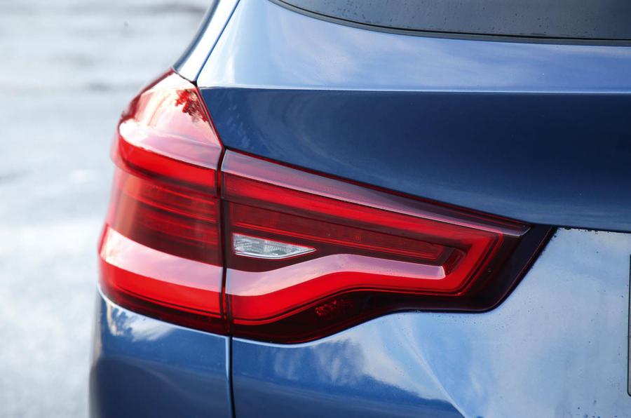 BMW X3 rear LED lights