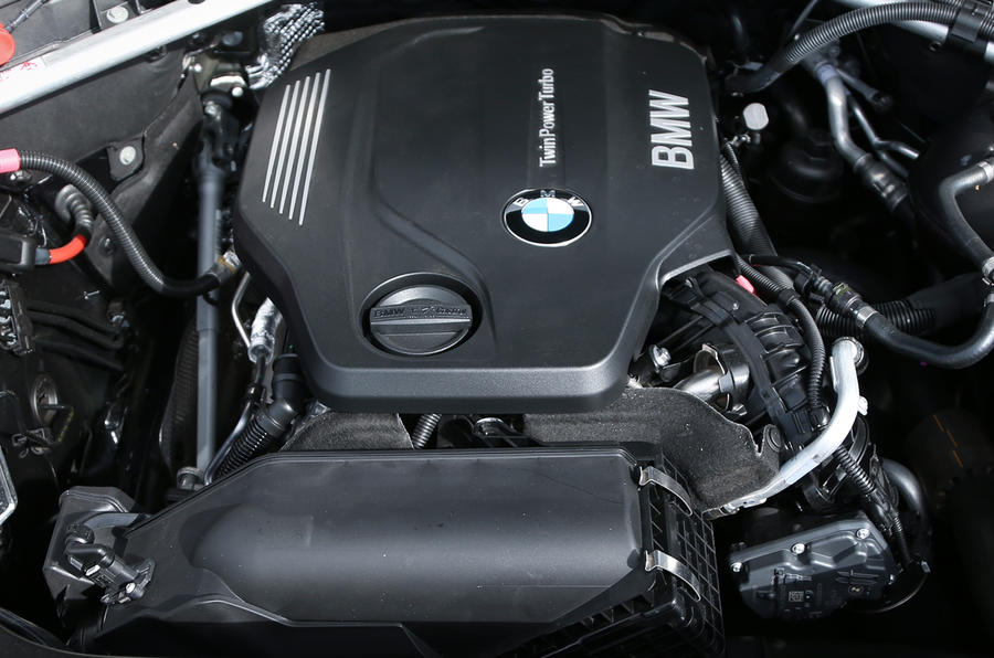 Twin turbocharged BMW X3 diesel engine