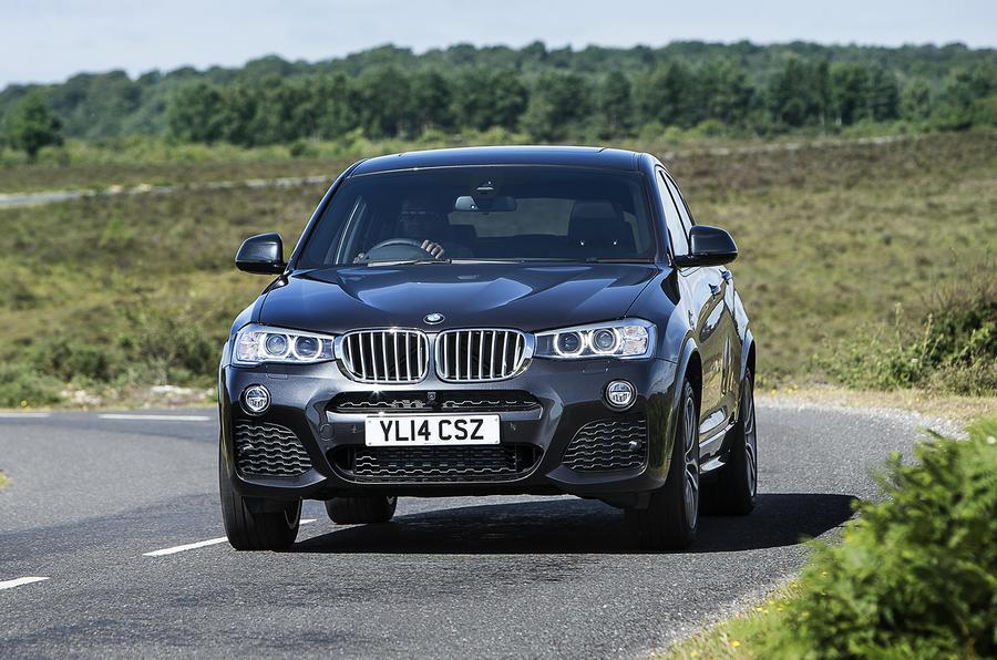 BMW X4 cornering