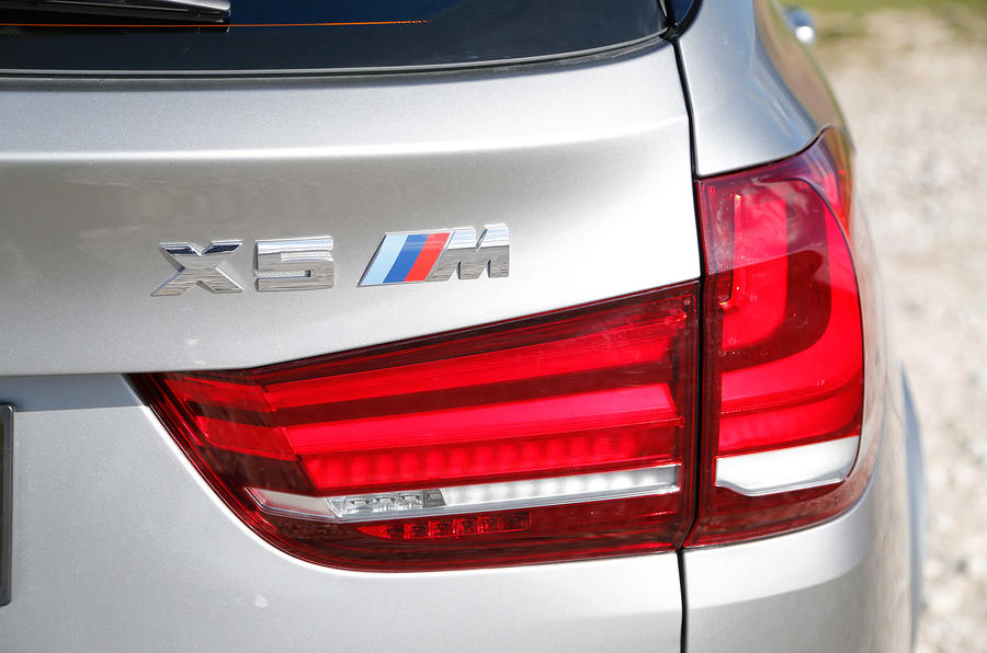 BMW X5 M's rear lights