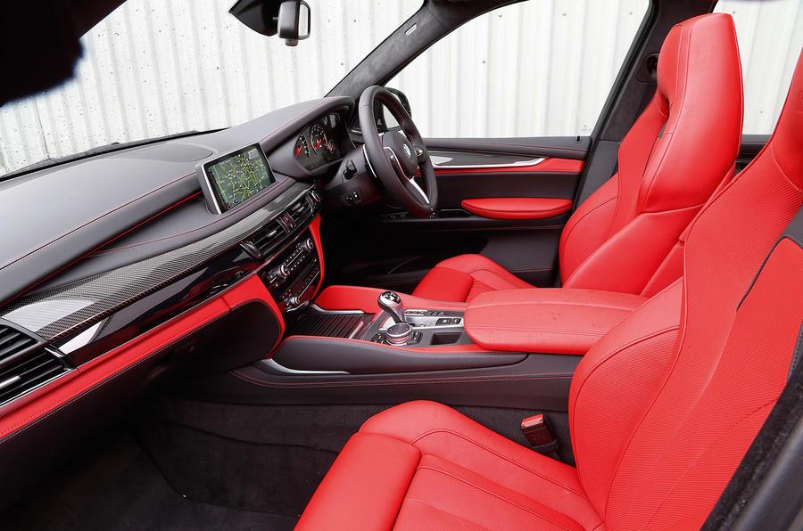 BMW X5 M's front seats