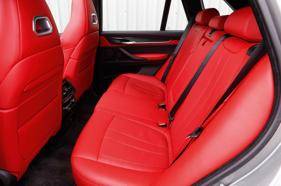 BMW X5 M's rear seats