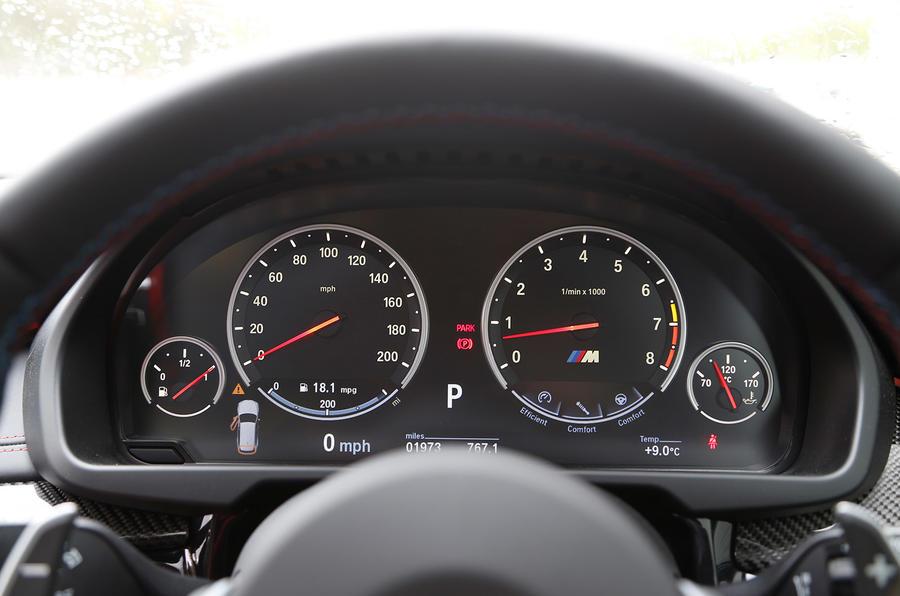 BMW X5 M's instrument cluster