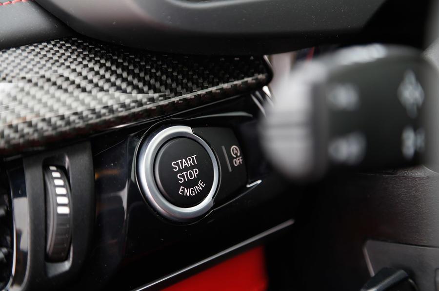 BMW X5 M's ignition button