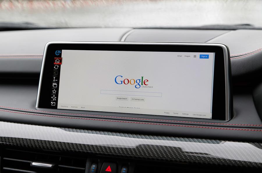 BMW X5 M's iDrive infotainment