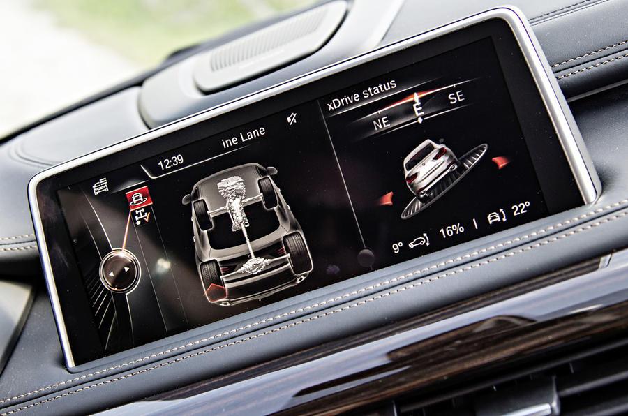 BMW X6 M50d iDrive infotainment
