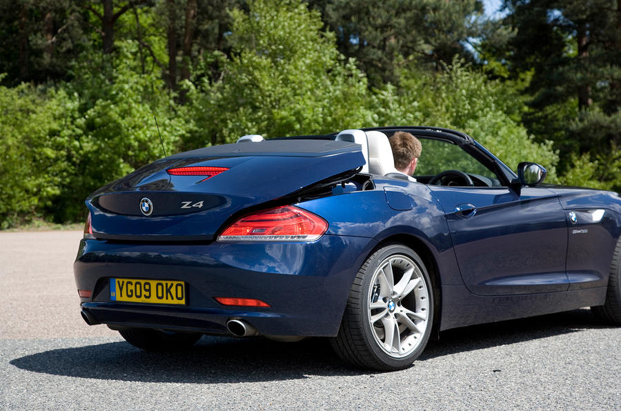 BMW Z4 roof down
