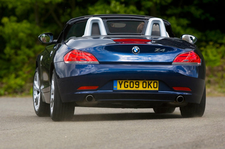 BMW Z4 rear cornering