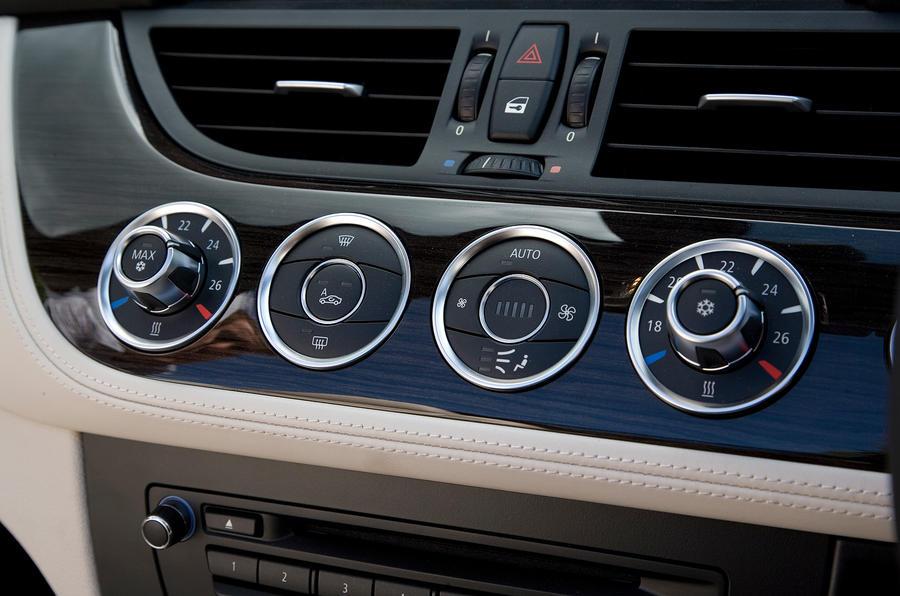BMW Z4's climate control switchgear