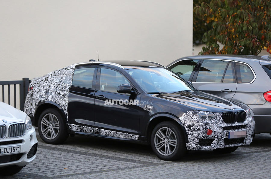 BMW X4 spotted less disguised