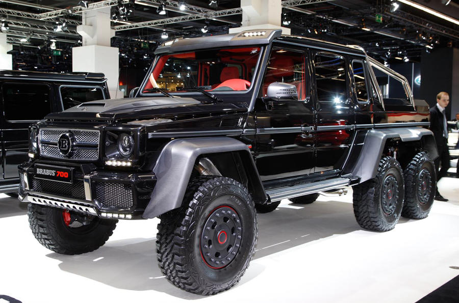 Six wheeled 691bhp brabus unveiled autocar for Mercedes benz range rover price