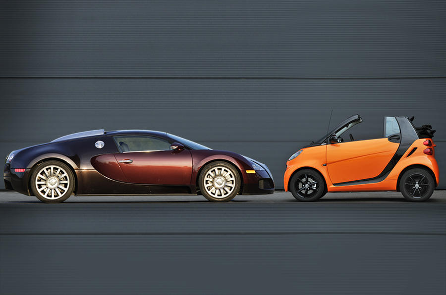 Smart Fortwo And Bugatti Veyron Head Up List Of Top Loss Making Cars