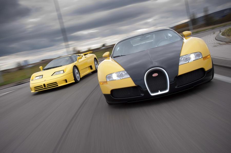 Bugatti Veyron vs Bugatti EB110