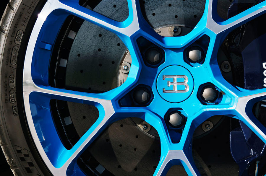 Bugatti Chiron Brembo brake calipers