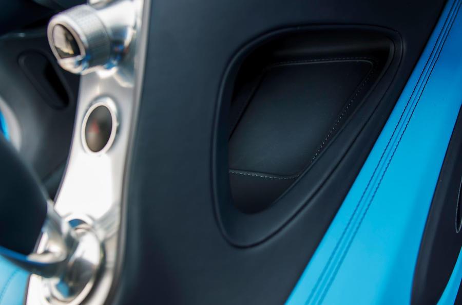 Bugatti Chiron cubbyhole