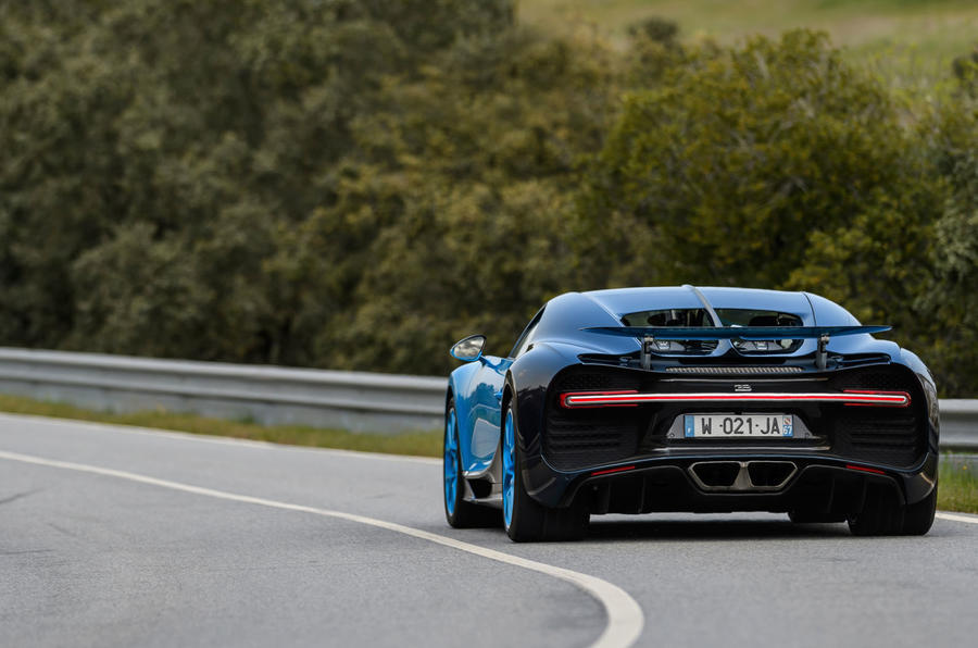 Bugatti Chiron rear cornering