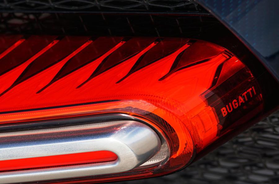 Bugatti Chiron rear LED lights