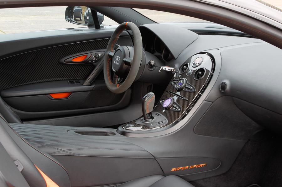 the bugatti veyron has exceptional ergonomics