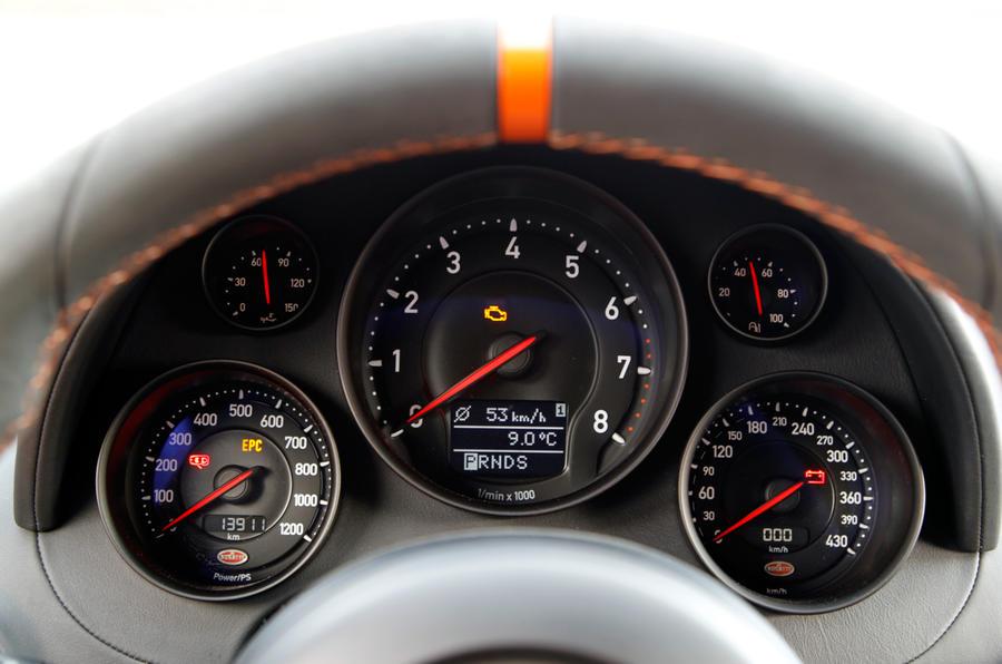 Bugatti Veyron dials
