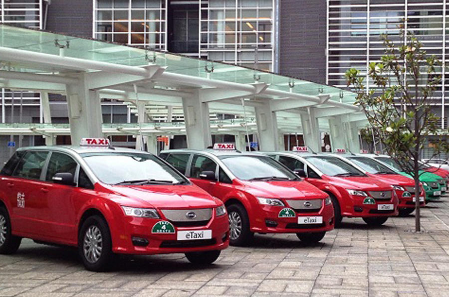 BYD launches first pure electric taxi fleet in Hong Kong