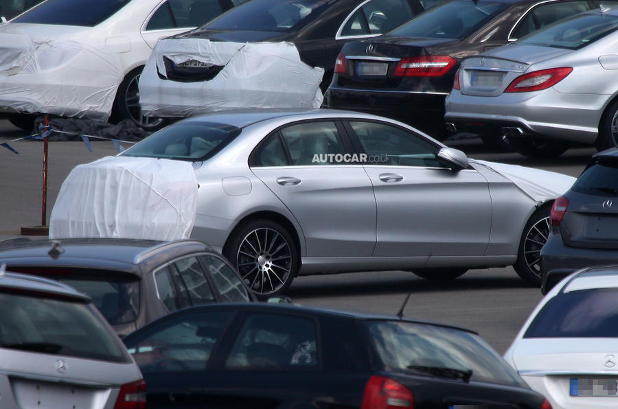 New Mercedes C-class partially revealed