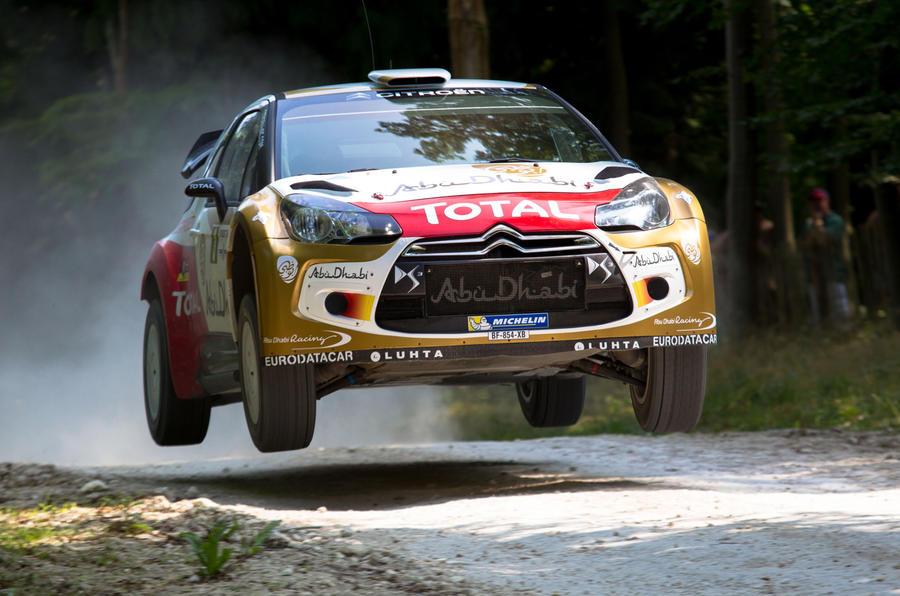 Mikko Hirvonen tames Goodwood's rally stage