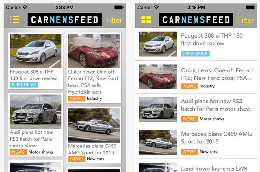 Download the free Car News Feed app