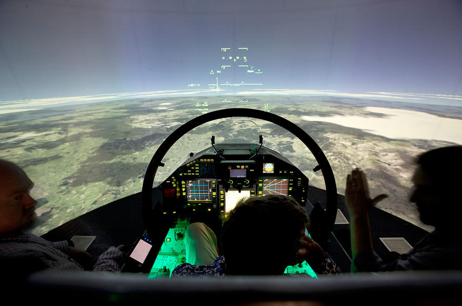 Hand Controls For Car >> Cockpit comparison - Jaguar F-type versus Eurofighter Typhoon | Autocar