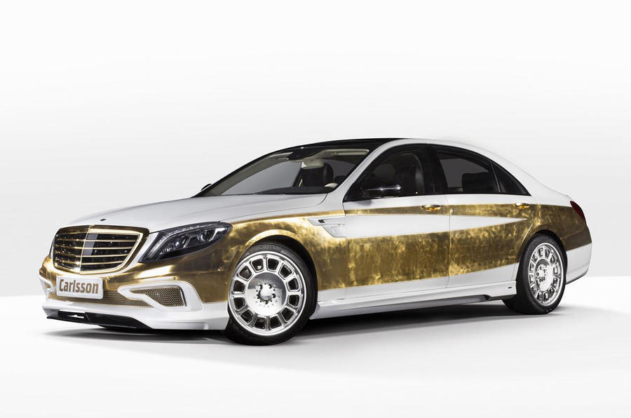 Geneva quick news: Gold leaf-covered S-class; VW Amarok V8