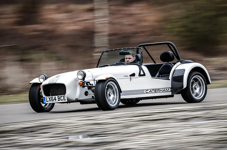 Caterham 270S hard cornering