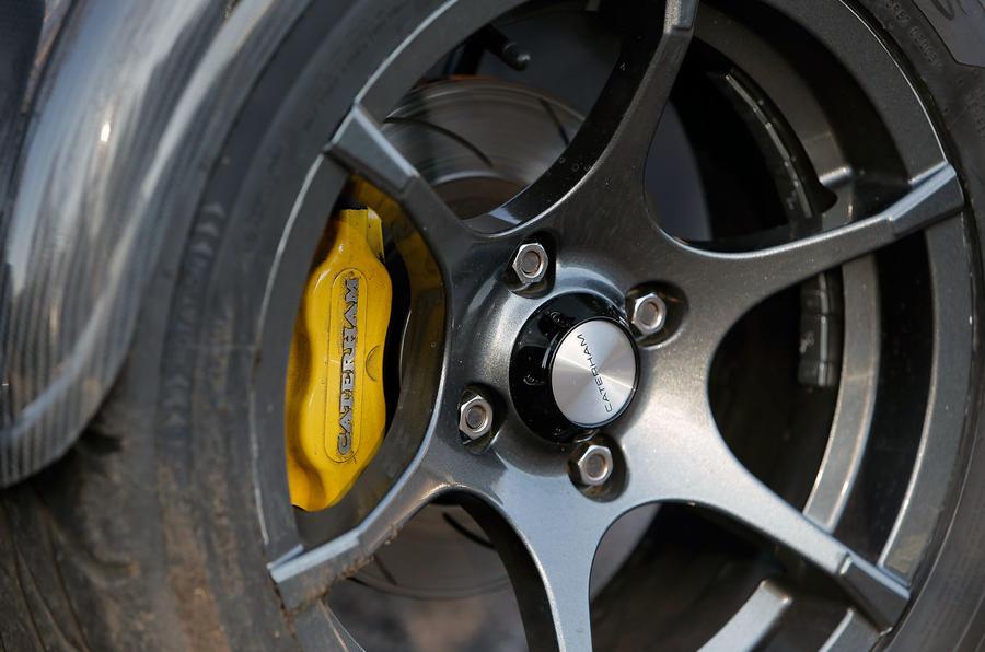Caterham yellow brake calipers