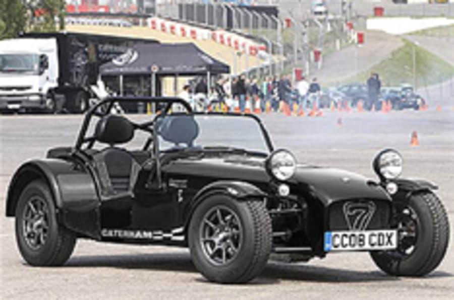 Caterham CDX leaves the track