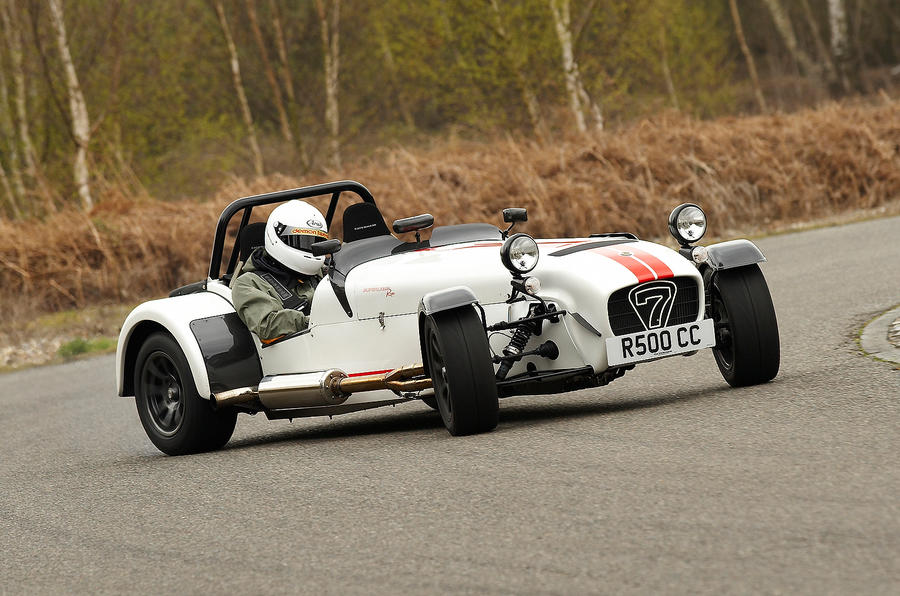Caterham Seven Superlight hard cornering