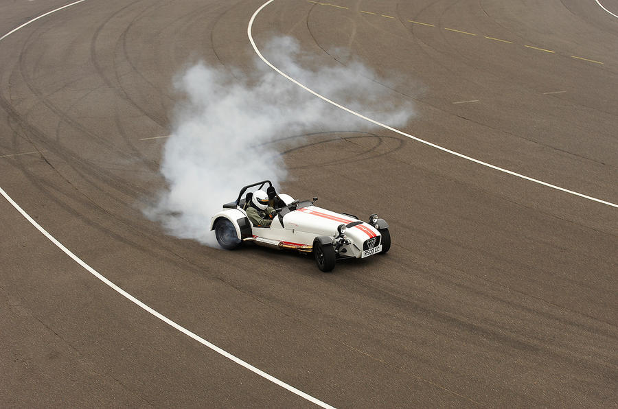 Caterham Seven Superlight drifting