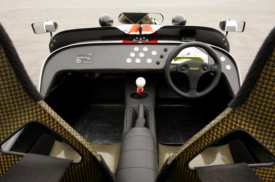 Caterham Seven Superlight's basic interior