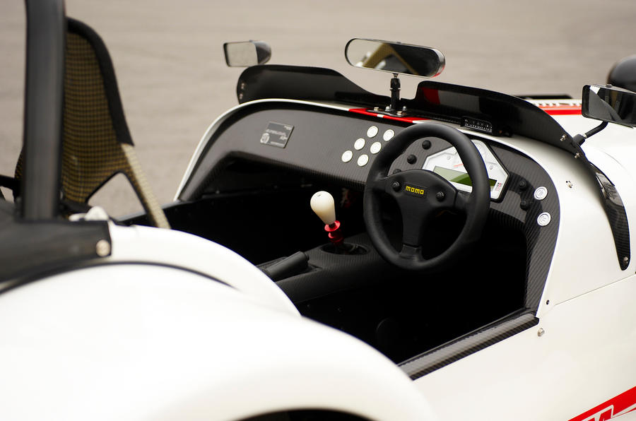 Caterham Seven Superlight driver's cockpit