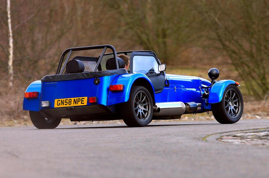Caterham Seven rear hard cornering