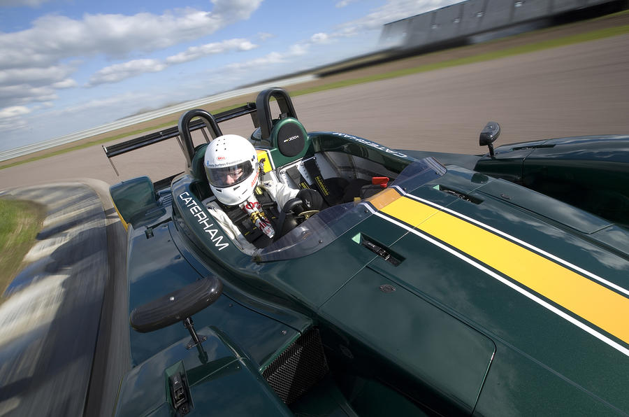 Caterham SP300R driver's cockpit
