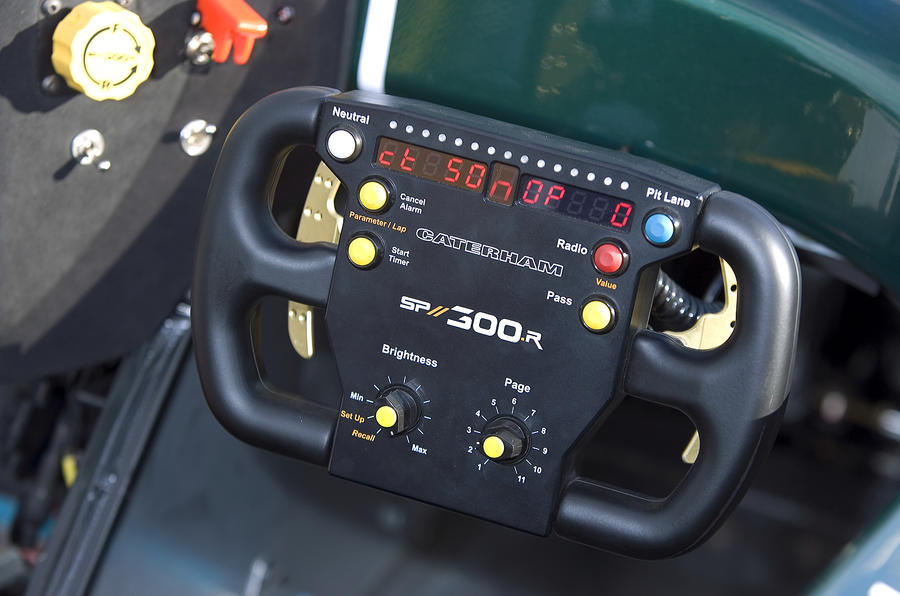 Caterham SP300R racing steering wheel