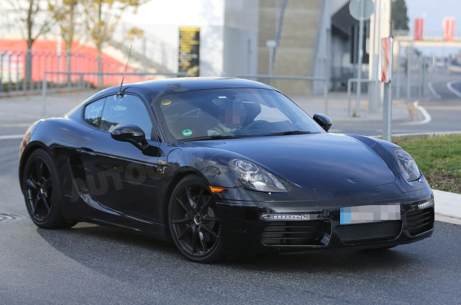 Facelifted Porsche Cayman spotted
