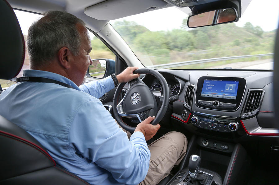 Julian Rendell driving the Changan CS55