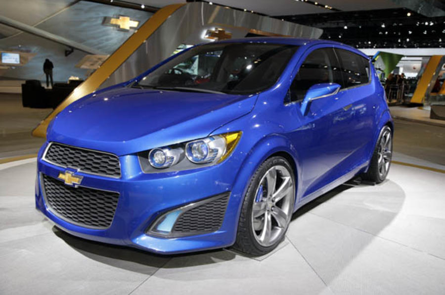 Hot Chevrolet Aveo RS at Detroit