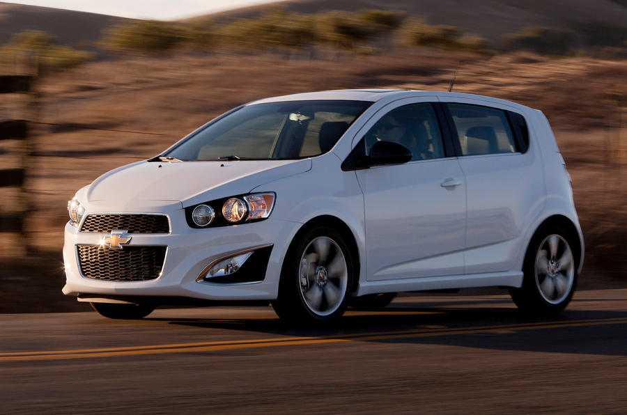 Chevrolet Sonic RS front end