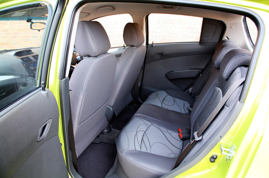 Chevrolet Spark rear seats