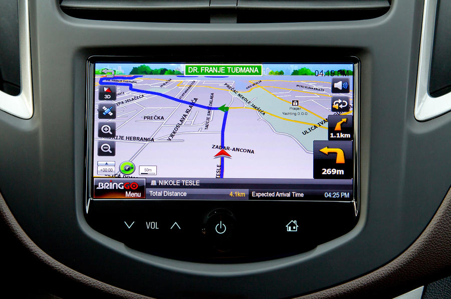 Chevrolet Trax infotainment system