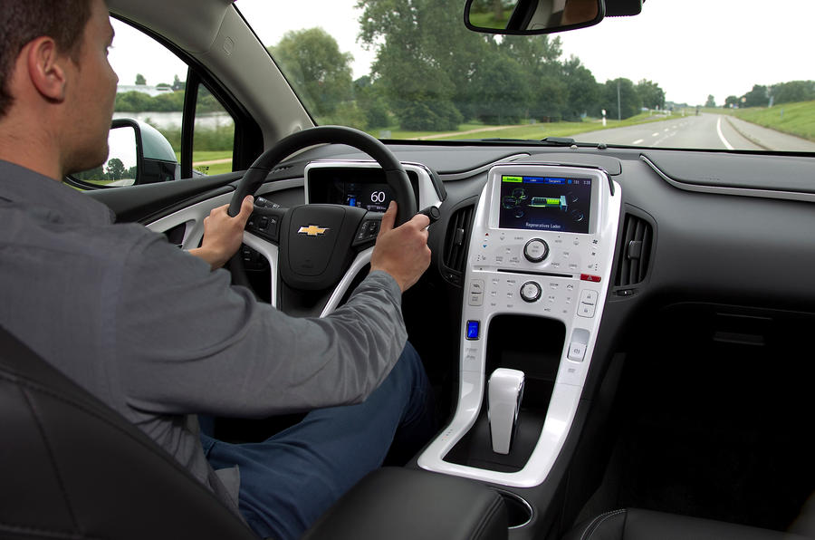 Chevrolet Volt being driven