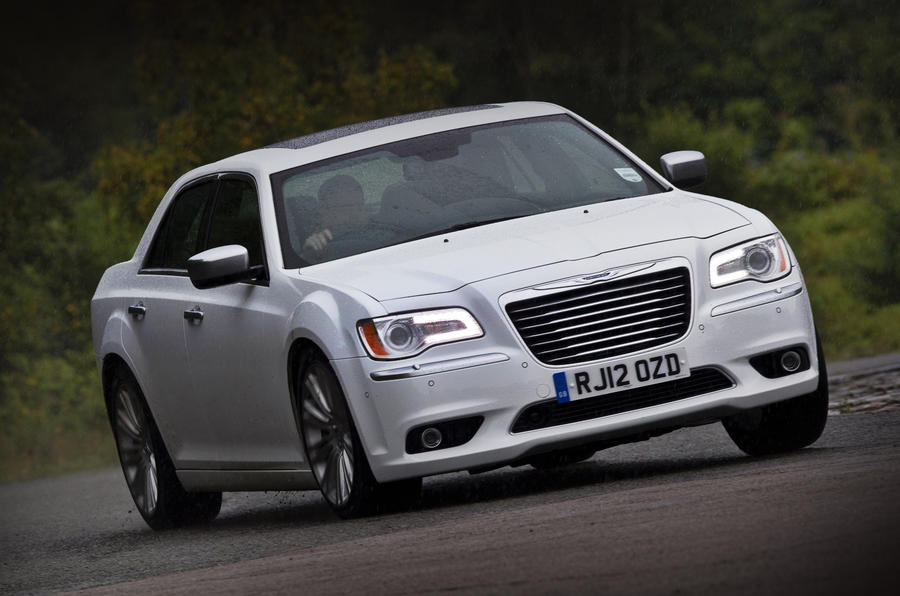 Chrysler 300C hard cornering