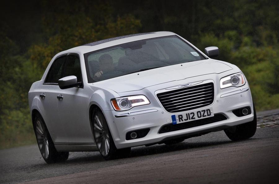 Chrysler 300C hard cornering